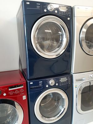 Lg front load washer and electric dryer set used in good condition with 90 day's warranty for Sale in Mount Rainier, MD