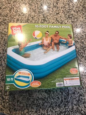 Inflatable Pool Brand New - Cheap - 10 feet for Sale in Peninsula, OH