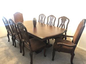 Ashley Furniture North Shore. Dining table and 8 padded chairs. Delivery available for Sale in Peoria, AZ