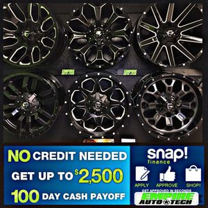 BEST DEALS ON NEW TIRES AND WHEELS. PAYMENT OPTIONS for Sale in Claremont, CA