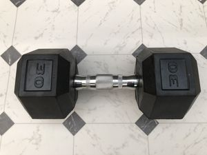 30 lb rubber-coated dumbbell. for Sale in Portland, OR