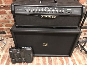 Line 6 guitar amp + 4x4 cab + line 6 pedal for Sale in West McLean, VA