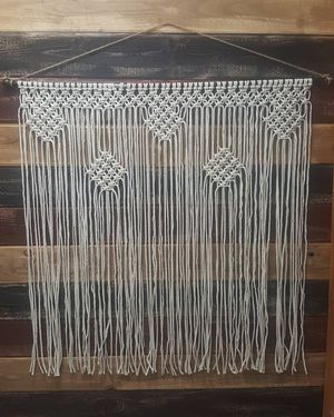 Handmade macrame curtain wall hanging 36inx36in for Sale in Ontario, CA
