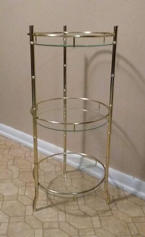 Three Glass Shelf Stand/Table (Excellent Used Condition) for Sale in Center Point, AL