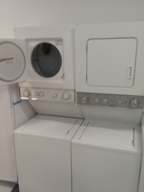 Whirlpool stackable washers and dryer 24 inches good condition 90days warranty