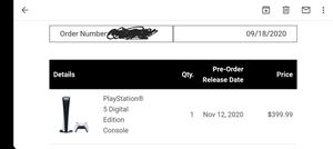 Ps5 digital edition pre-order. Get it day of release for Sale in Manassas, VA