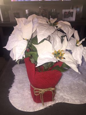 White Poinsettia fake plant for Sale in The Bronx, NY