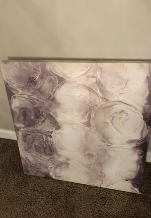 Cream and Gray Abstract Portrait - (2) for Sale in Swansea, IL