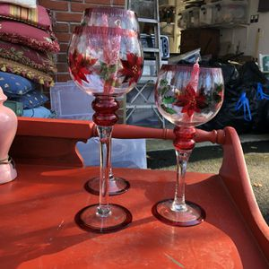 Set Of 3 Painted Candleholders for Sale in Phoenix, MD