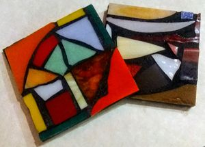 Handmade stained glass Mosaic Coasters! for Sale in Portland, OR