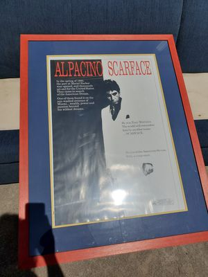 Large scarface poster for Sale in Colorado Springs, CO