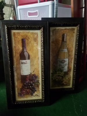 Set of 2 framed artwork for Sale in Pittsburgh, PA