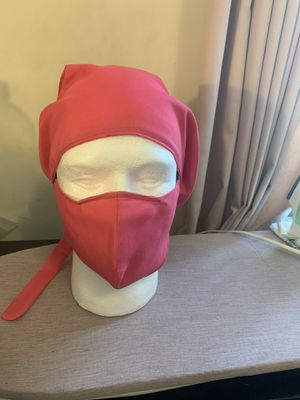 Handmade face mask with matching head cover /Surgical Cap Pattern for Sale in Akron, OH