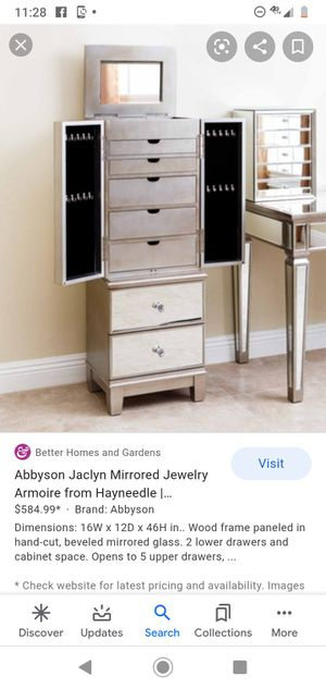 Mirror jewelry armoire for Sale in Springfield, OR