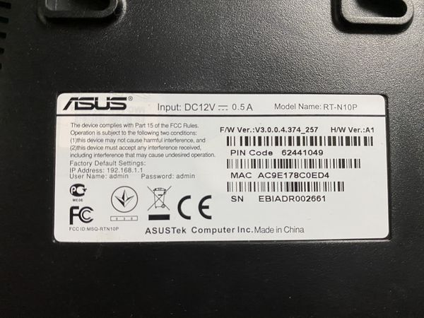 Asus wifi wireless router