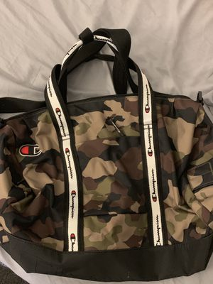 Champion Camoprint Duffle bag med to large for Sale in Chicago, IL