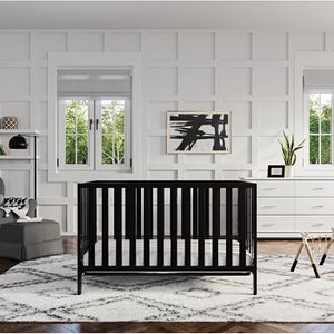 Dream On Me Synergy 5-in-1 Convertible, Crib, Black for Sale in Burtonsville, MD