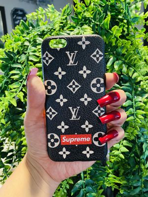 Brand new cool iphone 6, 6s REGULAR case cover rubber silicone fundas red black and white color mens guys hypebeast hypebae womens girls hype swag for Sale in San Bernardino, CA