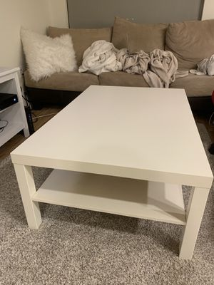 IKEA white table in perfect condition for Sale in Kent, WA