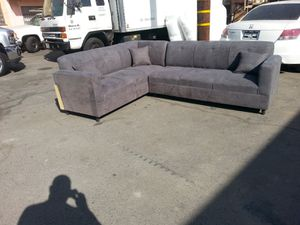NEW 7X9FT CHARCOAL MICROFIBER SECTIONAL COUCHES for Sale in LA CANADA FLT, CA