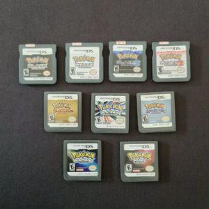 $16 each Pokemon HeartGold SoulSilver Platinum Black & White 1 / 2 | Nintendo DS | Tested for Sale in Tustin, CA