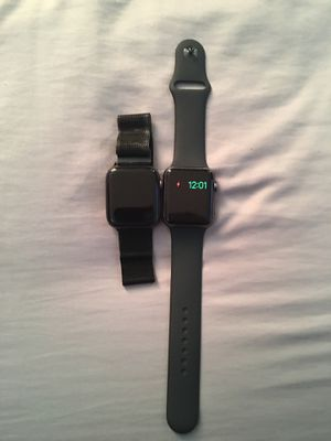 Black Apple iWatch series 3 sports watch $100 or Black 44mm' Aluminum band IWatch for $200 for Sale in Norristown, PA