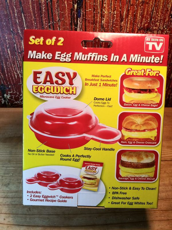 Easy Eggwich 1 Minute Microwave Egg Cooker