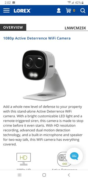 Lorex indoor/outdoor HD camera brand new sealed for Sale in San Leandro, CA