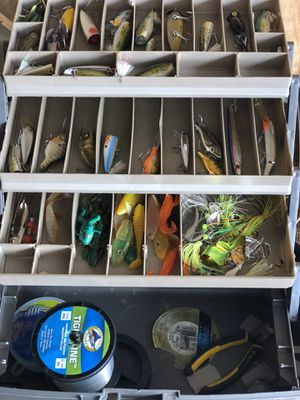 Fishing Tackle lures lots of them very nice ones too for Sale in Colton, CA