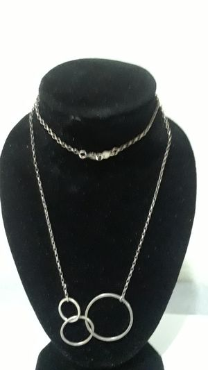 Sterling silver Circles Gold tone Neckalce for Sale in Tampa, FL