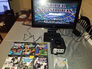 Black Gamecube w / Super Smash Bros +.. for Sale in Arlington, TX