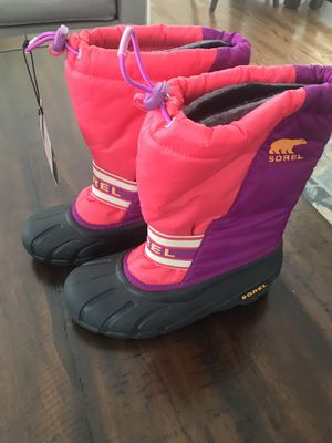 Winter boots- Kids- Sorel - Kids snow boots US 4- Brand New ! for Sale in Arlington Heights, IL