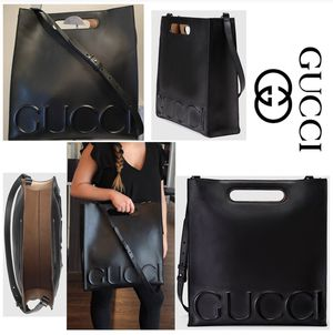 Authentic G5 Gucci Black Leather XL Tote Purse for Sale in Laurel, MD