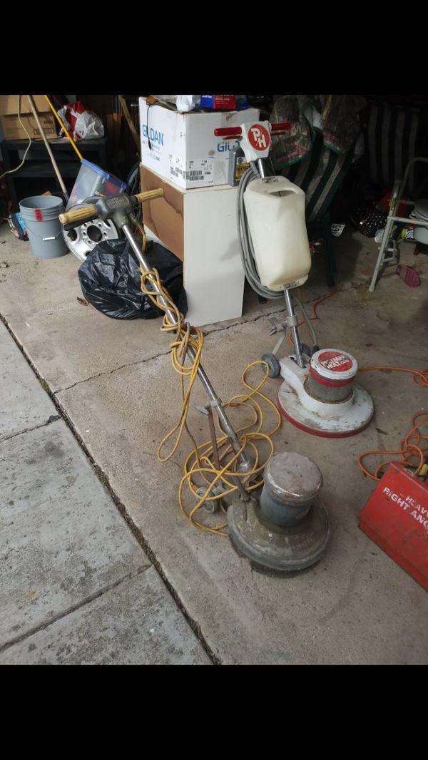 2 Commercial Floor Scrubbers Buffers Sanders 300 Obo