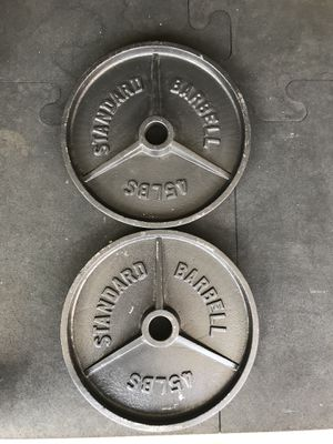 Olympic weights (2x45s) for $55 Firm!!! for Sale in Burbank, CA