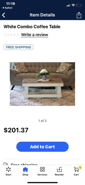 (New in Box) White on white coffee table for Sale in Salt Lake City, UT