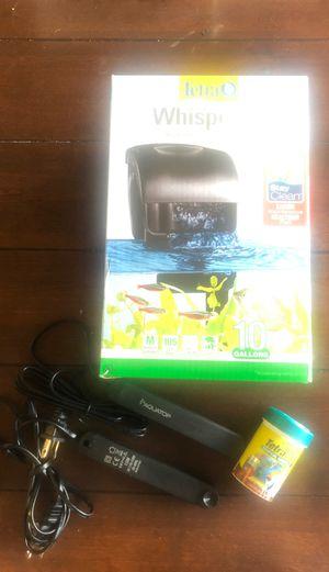 Food. Filter and 2 aquarium heater for Sale in Burien, WA