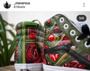 Custom Painted Vans sk8hi by @_meversus for Sale in Los Angeles, CA