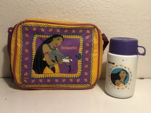 Vintage Disney's Pocahontas Lunch Pail & Thermos for Sale in Fresno, CA