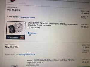 Ford F-150 AC compressor for Sale in Tampa, FL