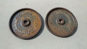 Matching pair of vintage 45lb weight plates for Sale in Corona, CA