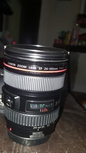 Canon lens 24 -105 1.4 L.You can only use in manual mode. AF mode does not work very well for Sale in Houston, TX