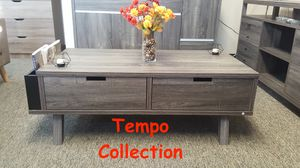 NEW IN THE BOX. MELODY COFFEE TABLE, DISTRESSED GREY AND BLACK, SKU# T151344CT for Sale in Fountain Valley, CA