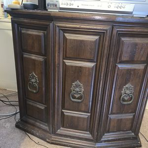 Wood Storage Unit/TV Stand for Sale in Houston, TX
