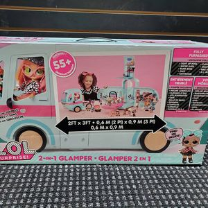 NEW LOL SURPRISE 2 IN 1 GLAMPER CAMPER INCLUDES 55 SURPRISES PERFECT GIFT FOR BIRTHDAY OR XMAS PRICE IS $80 for Sale in Perth Amboy, NJ