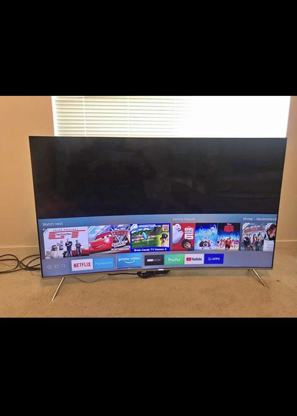 """$850 or best offer 55"""" Samsung SUHD HDR 4K tv curved."""
