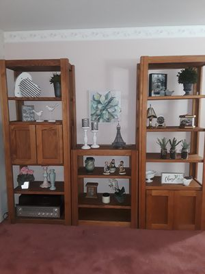 Oak bookshelf, set of 3 for Sale in Federal Way, WA