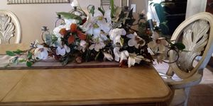 Flower arrangement with candle holder for Sale in Lake Elsinore, CA