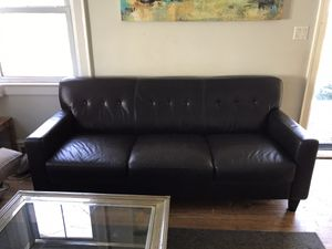 Leather Couch for Sale in Greensboro, NC