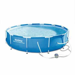 Bestway Steel Pro Max 12ft x 30in Frame Above Ground Swimming Pool with Pump for Sale in Fresno, CA